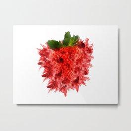 Strawberry Explosion Metal Print