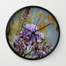 Wisteria - photography Wall Clock
