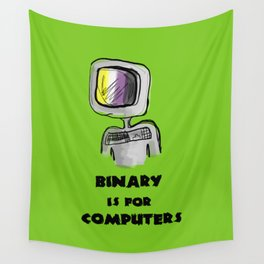 binary is for computers Wall Tapestry