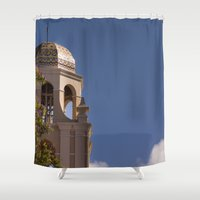 community Shower Curtains featuring Community Presbyterian by Claire Laminen Photo