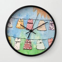 Dresses in the Sun Wall Clock