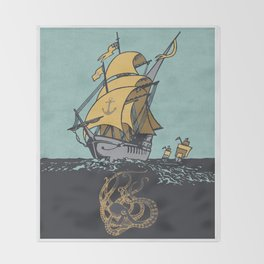The Secrets of the Sea Throw Blanket