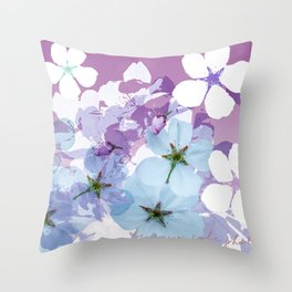 Almond Blossoms Violet 2 Throw Pillow