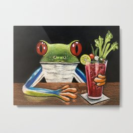 """""""Bloody Mary"""" - Frogs After five collection Metal Print"""