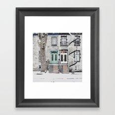 Snow in Montreal Framed Art Print
