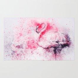 Watercolor Flamingo Rug