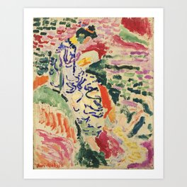 La Japonaise Woman beside the Water by Henri Matisse Art Print