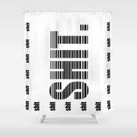 shit Shower Curtains featuring shit by Elle Park