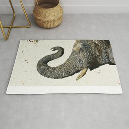 Elephant Cyril(Color Shower Background) Rug