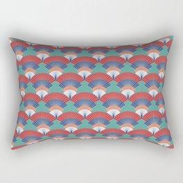 Japanese fan Rectangular Pillow