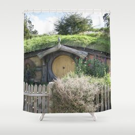 House of the Little People Shower Curtain