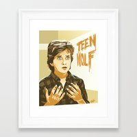 teen wolf Framed Art Prints featuring Teen Wolf by IBTrav Pop Shop