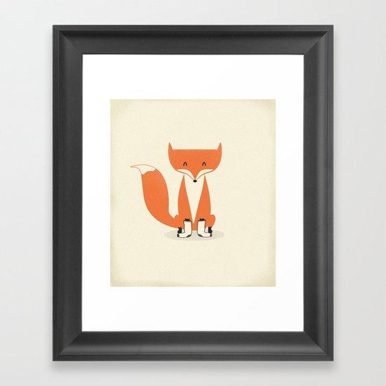 A Fox With Socks Framed Art Print