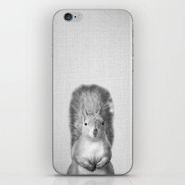 Squirrel - Black & White iPhone Skin