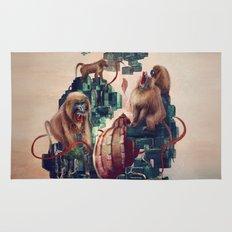 monkey temple Rug
