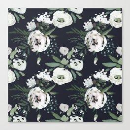 Rustic Floral Print Canvas Print