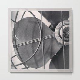 Black And White Vintage Handybreeze Fan Metal Print