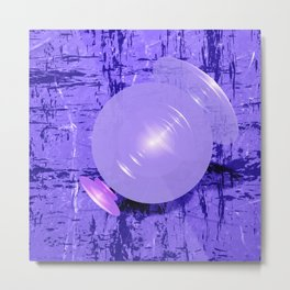 Abstract space fractal in purple Metal Print