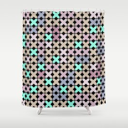 Abstract pattern . To embroider a cross . Shower Curtain