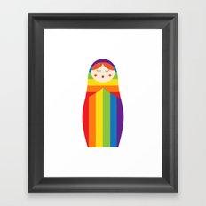 Sochi Russian Doll Framed Art Print