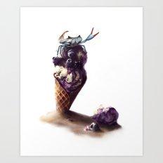 Ice Crab Art Print