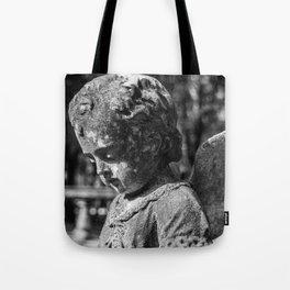 Angel Child Statue Tote Bag