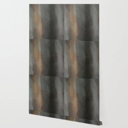 Abstract Lines Beige Grey and Black Shades.   Like painted on canvas. Wallpaper