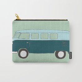 Blue Campervan Carry-All Pouch