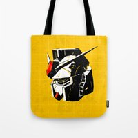 gundam Tote Bags featuring RX-78-2 by Bertrand Nadal