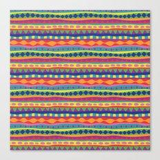Stripey-Crayon Colors Canvas Print