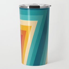 Colorful Retro Stripes  - 70s, 80s Abstract Design Travel Mug