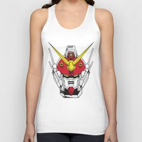 gundam Tank Tops featuring Heavyarms Gundam Wing by Andrew Huckleberry