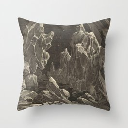 Camille Flammarion - Astronomie populaire  Black And White Magical Space Crystal Fantasy Landscape Throw Pillow