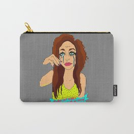 Last Night's Make-Up FAIL Illustration Carry-All Pouch