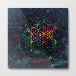Flower of Life in the Universe - Universe in the Flower of Life Metal Print