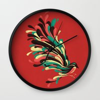 window Wall Clocks featuring Avian by Jay Fleck