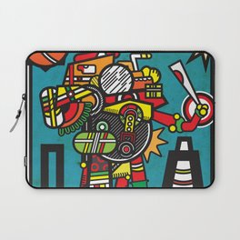 Humble Witch Doctor - Aztec / MesoAmerican Abstract Illustration Laptop Sleeve