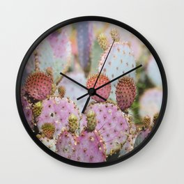 Cotton Candy Cacti Wall Clock