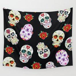Sugar Skull Pattern Wall Tapestry