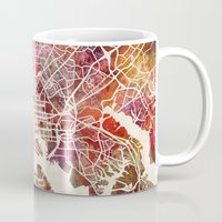 baltimore Mugs featuring Baltimore map by MapMapMaps.Watercolors