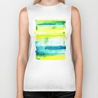swimming Biker Tanks featuring Swimming Upstream by Picomodi