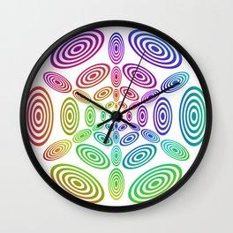 Rainbow ellipse fun Wall Clock