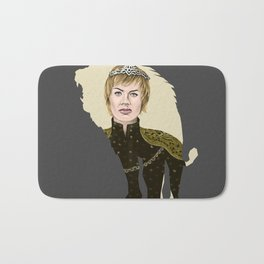Cerseii Lannisters Thrones Queen ( Lena Header ) (Dark Version) Bath Mat