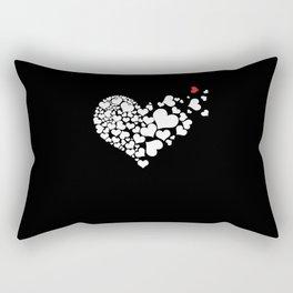 Heart Red Heart Rectangular Pillow