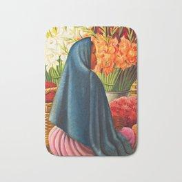 Thuantepec 'Flower Seller' by Miguel Covarrubias Bath Mat