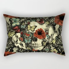 Vintage Gothic Lace Skull Rectangular Pillow