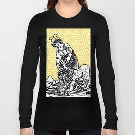 Modern Tarot Design - 8 Strength Long Sleeve T-shirt