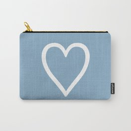 Heart sign on placid blue background Carry-All Pouch