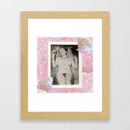 Mermaid femme - Pin Up Girl  Framed Art Print