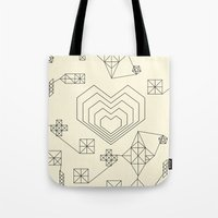 valentine Tote Bags featuring Valentine by Leandro Pita
